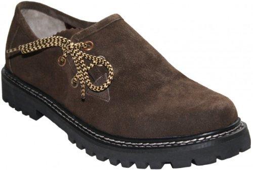 Haferlschuhe Trachtenschuhe Trachten Lederschuhe Schuhe aus Wildleder Braun, Schuhgröße:43