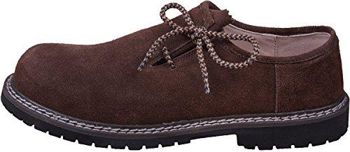 Almwerk Herren Trachtenschuh aus echtem Leder in verschiedenen Farben, Schuhgröße:EUR 41, Farbe:Hellbraun
