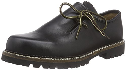 Stockerpoint Schuh 1224, Unisex-Erwachsene Derby Schnürhalbschuhe, Schwarz (Nappa), 43 EU