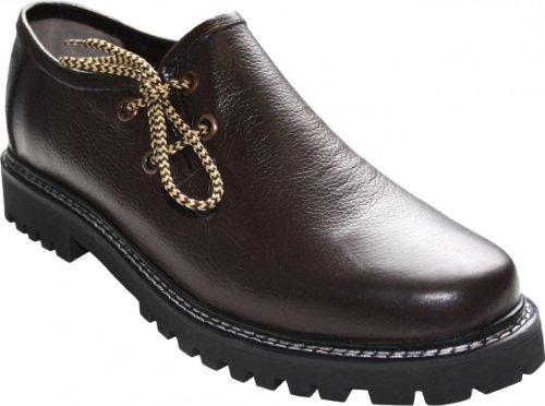 German Wear, Haferlschuhe Trachtenschuhe Original-Handmachart Glattleder, Schuhgröße:43;Farbe:Dunkelbraun