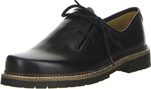 Vista Damen Herren Haferlschuhe Trachtenschuhe Echtleder schwarz, Größe:43;Farbe:Schwarz