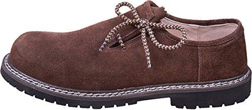 Almwerk Herren Trachtenschuh aus echtem Leder in verschiedenen Farben, Schuhgröße:EUR 44, Farbe:Schwarz