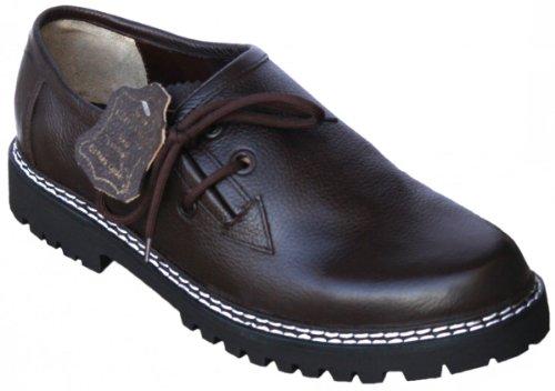 Haferlschuhe lederhosen-schuhe Glattleder Trachtenschuhe dunkelbraun, Schuhgröße:43