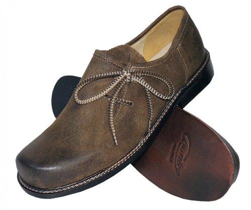 Trachtenschuhe Haferlschuhe Trachten-Schuhe Leder braun speckig Ledersohle